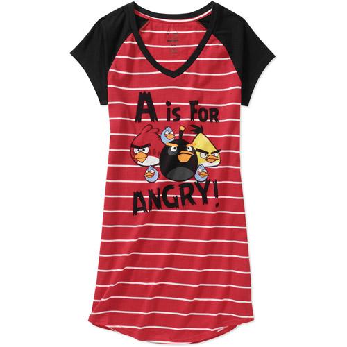 Juniors Angry Birds Short Sleeve Sleep Shirt