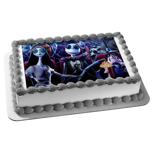 Excellent Nightmare Before Christmas Jack Skellington Emily Edible Cake Funny Birthday Cards Online Elaedamsfinfo