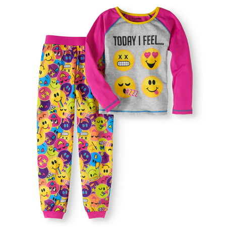 Emoji Girls' 2-Piece Pajama Set - Emoji For Girls