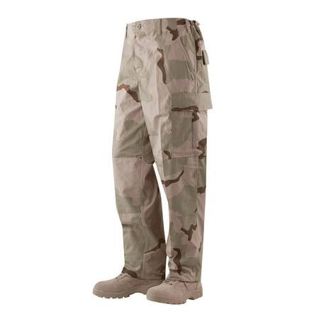BDU Trousers Desert 3-Color 50/50 Nylon, Cotton Rip-Stop, XLarge Long