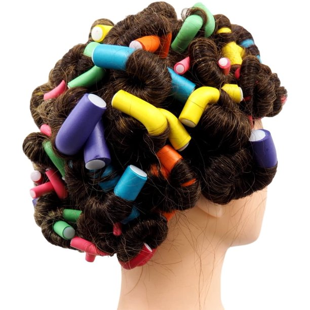 42 pcs Hair Curlers,Foam Curlers Rollers Set Flexible ...