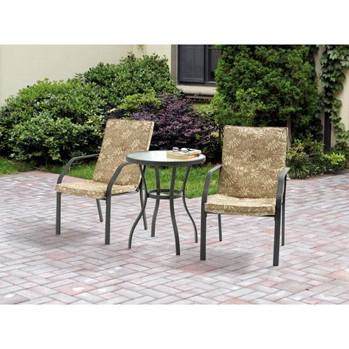 Mainstays Spring Creek 3-Piece Outdoor Bistro Set, Seats 2