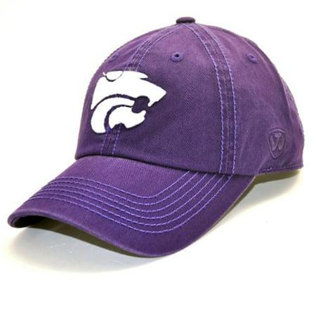 Men s Purple Kansas State Wildcats Solid Crew Adjustable Hat - Walmart.com c83e227be89