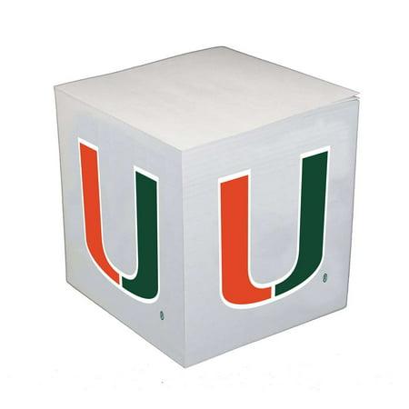 - Miami Hurricanes Sticky Note Memo Cube - 550 Sheets