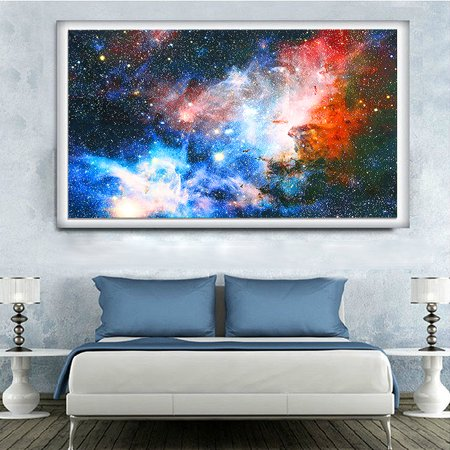 """24'' x 43"""" Space Cosmos Universe Planet Nebula Art Silk Galaxy Painting Poster Home Art Wall Decor GIFT - image 2 of 6"""