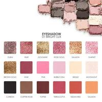 Tuscom FOCALLURE 18 Colors Pearlized Color Eyeshadow Powder Eye Shadow Palette Set A