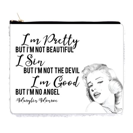 Mens Devil Makeup (I'm Pretty But I'm Not Beautiful I Sin But I'm Not the Devil I'm Good But I'm No Angel Marylin Monroe Quote - 6.5