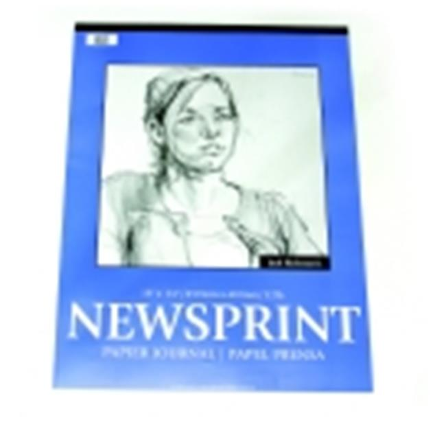 Jack Richeson 9 x 12 in. Rough Newsprint Pad - 32 Lbs. - 50 Sheets, Pack 50
