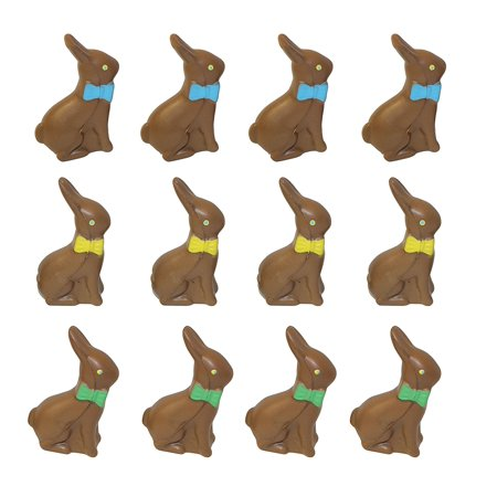 12 Chocolate Bunny Stress Balls - Small Novelty Toy - Party Favors - Easter Gift