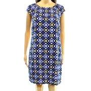 Laundry by Shelli Segal NEW Blue Geo Print Women's Size 4 Shift Dress $138