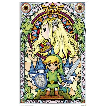 Nintendo Stained Glass Link Princess Zelda 24