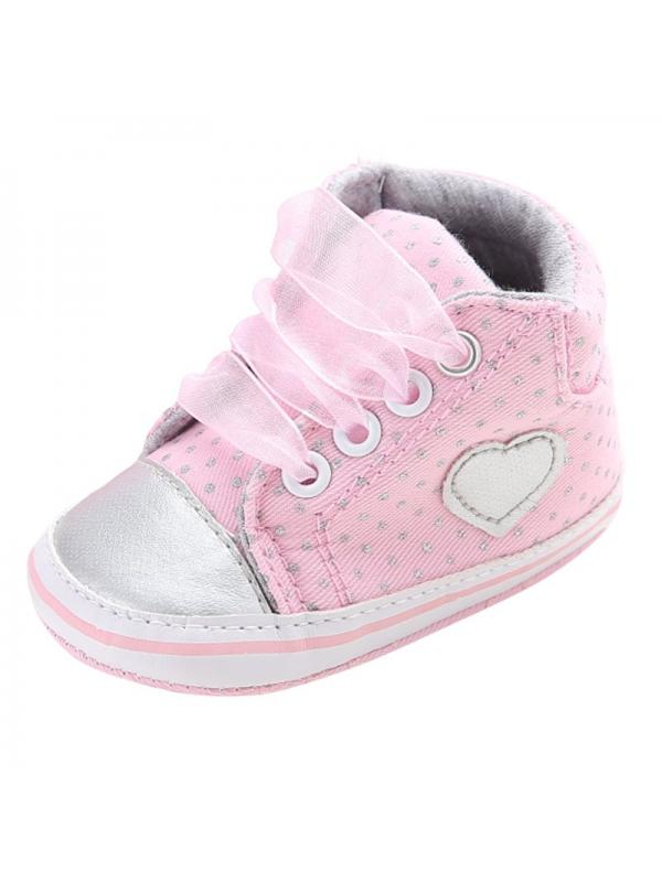 Newborn Baby Girls Laces High-Top Ankle