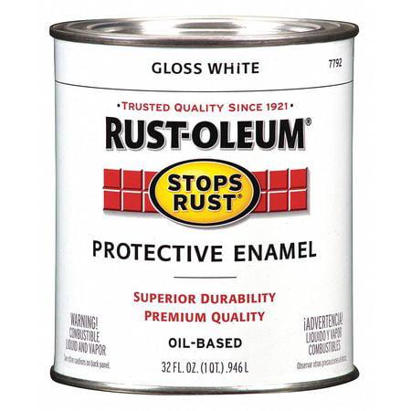 Protective enamel - Gloss White (White Enamel Paint)