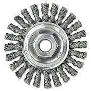 Wei 13266 4 in. Dualife Twist-Knot Wire Wheel, 0.02 Wire