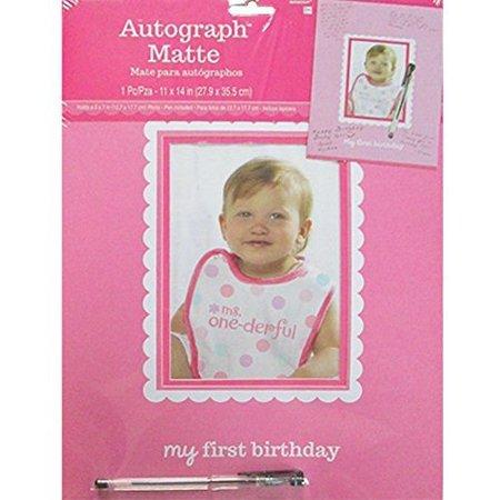 1st Birthday Sweet Lil Cupcake Girl Autograph Matte