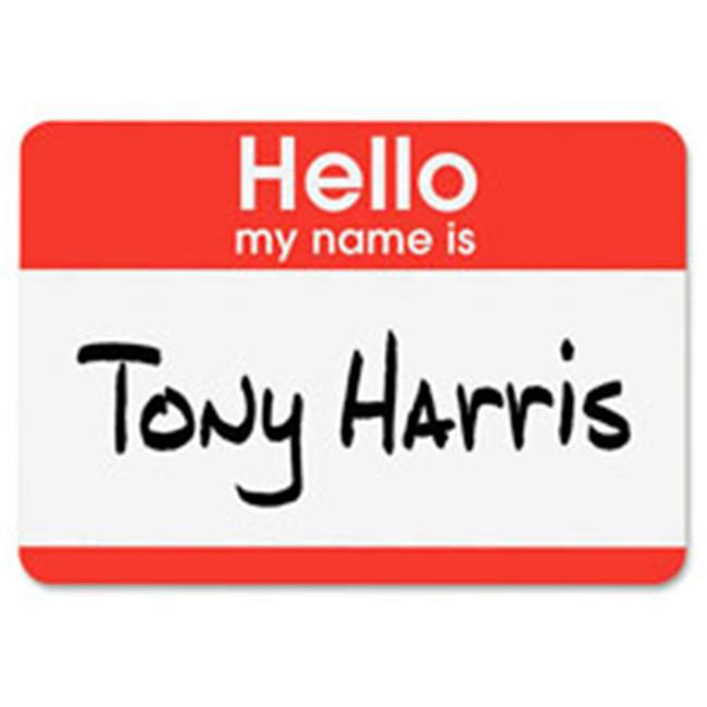 avery ave5140 name badge labels hello name 2 33 in x 3 38 in 100