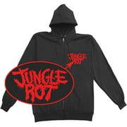 Jungle Rot Men's  Full Metal Rot Zippered Hooded Sweatshirt Black