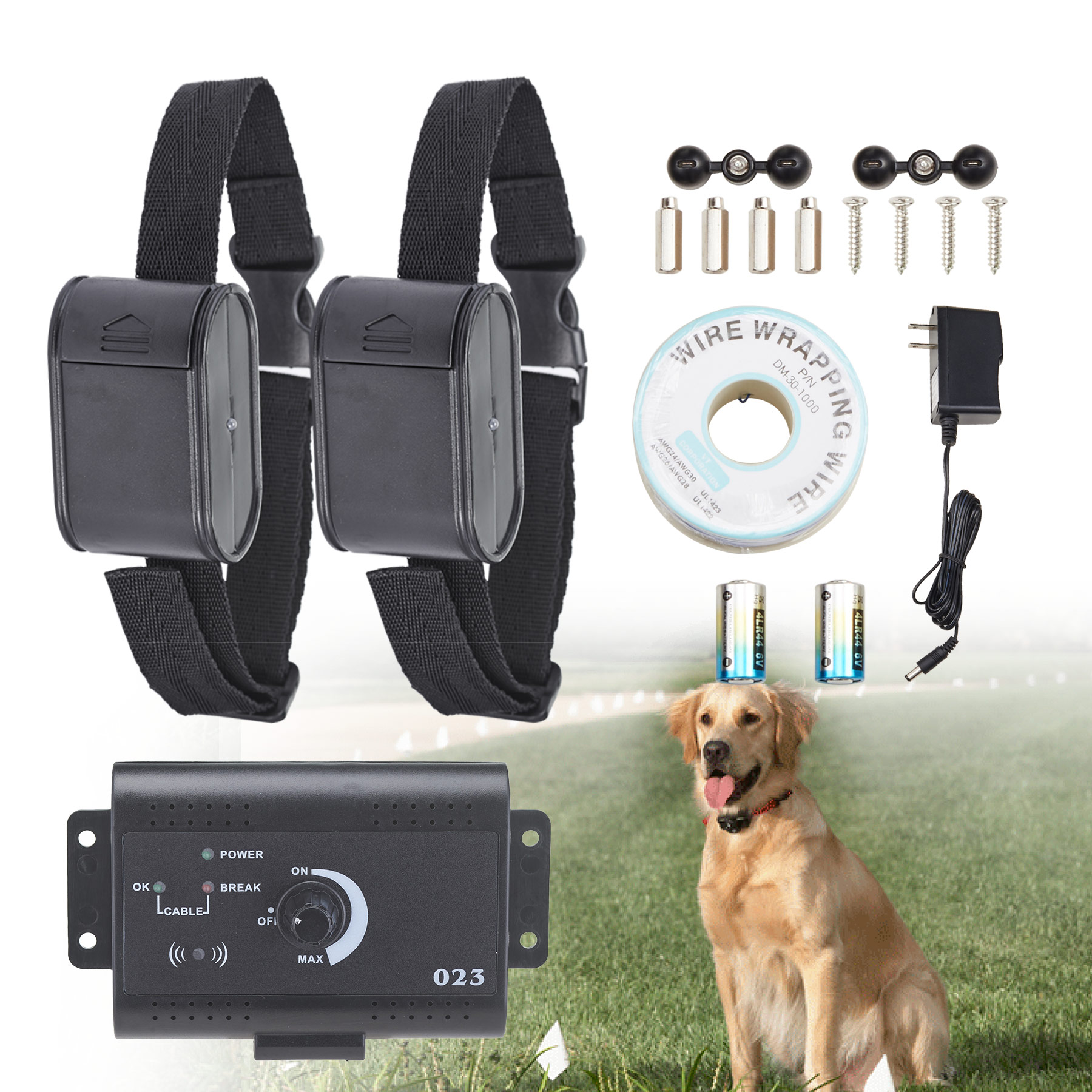 2 Dogs Underground Shock Audio Collar Dog Training Pet safe Electric Fence