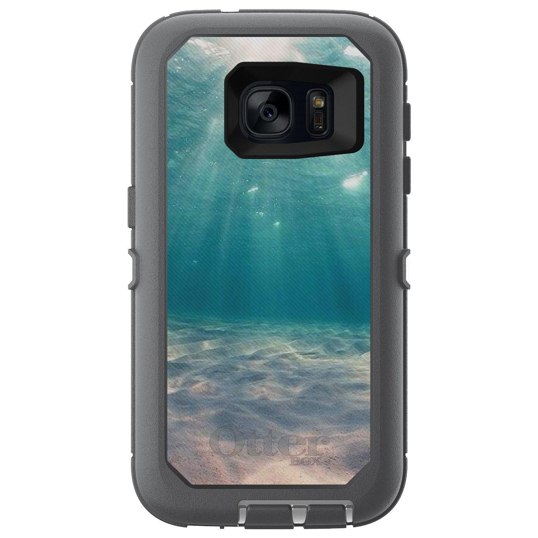 DistinctInk™ Custom Grey OtterBox Defender Series Case for Samsung Galaxy S7 - Underwater Sun Sand