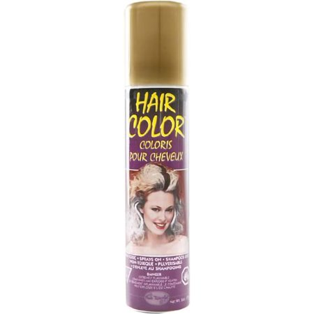 Gold Temporary Party HairSpray Hair Spray Dye Color Halloween Spray 3 OZ - Halloween Hair Dye