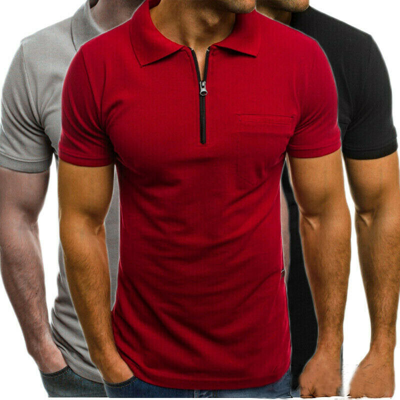 CieKen Mens Casual Slim Fit Polo T-Shirts Basic Designed Long Sleeve Solid Shirt Top Blouse