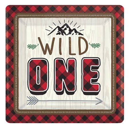 1st Birthday 'Little Lumberjack Wild One' Small Paper Plates (8ct)