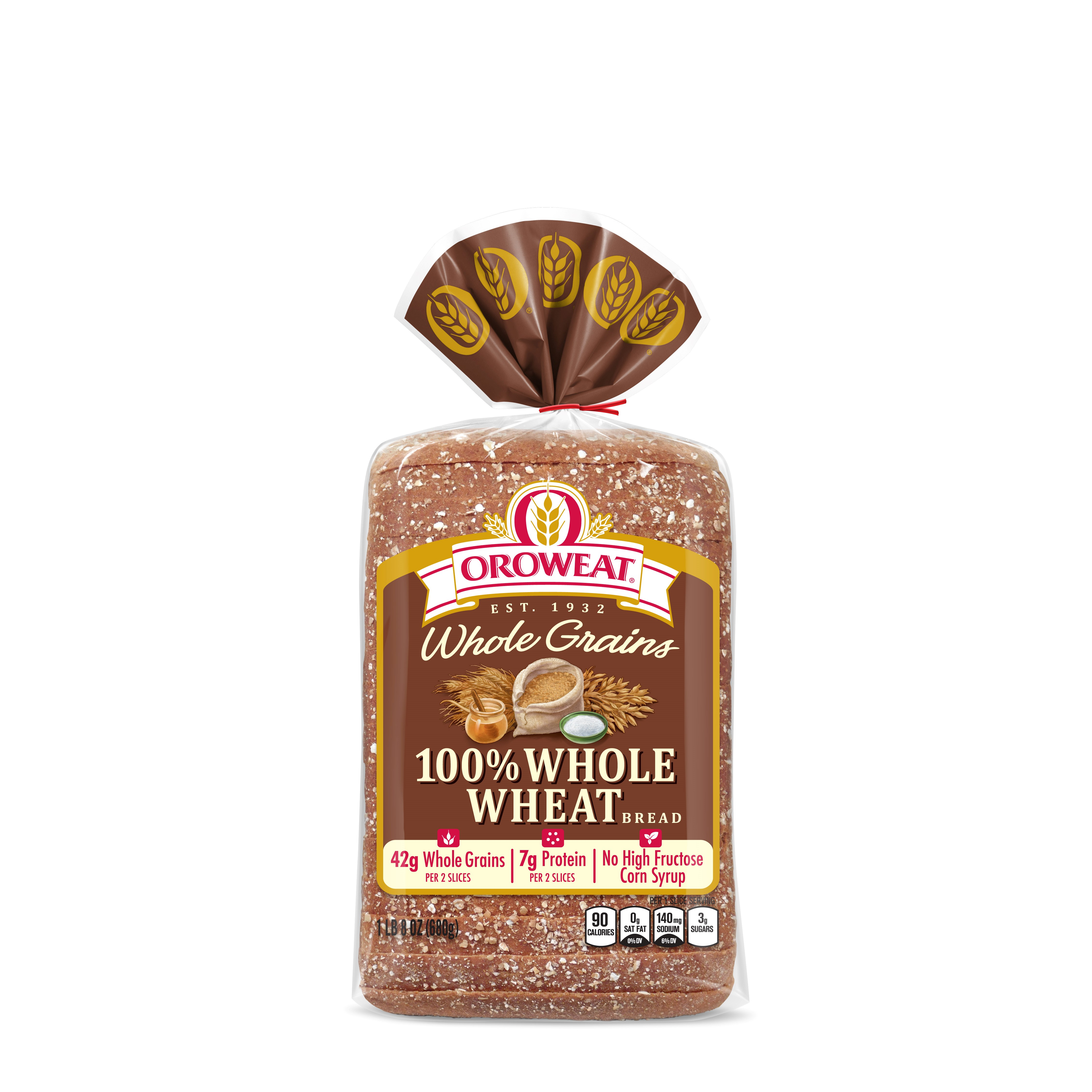 Oroweat Whole Grains 100% Whole Wheat Bread 24 Oz