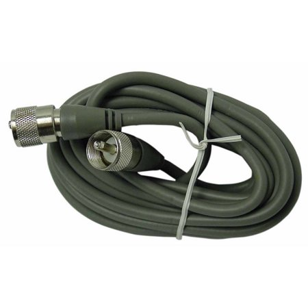 Cable Molded Ends - PROCOMM PP8X6TX  6' RG8X COAX CABLE W/ MOLDED PL259 ENDS (GREY)