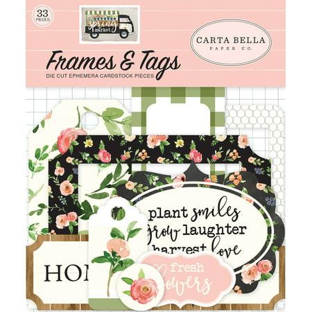 Spring Market Ephemera Cardstock Die-Cuts 33/Pkg-Frames & Tags