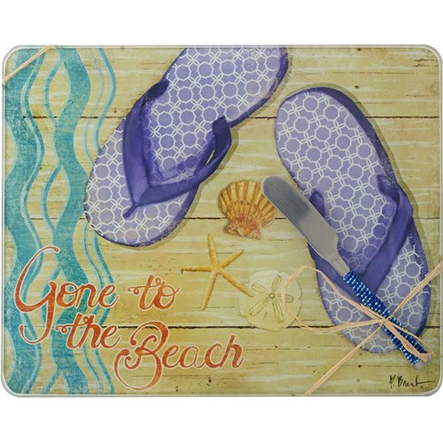 LS Arts, Inc. Gone to The Beach Cheese Board with Spreader
