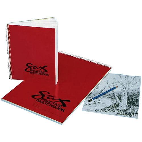 """Sax Spiralbound Practice Sketchbook, 8.5"""" x 11"""", White"""