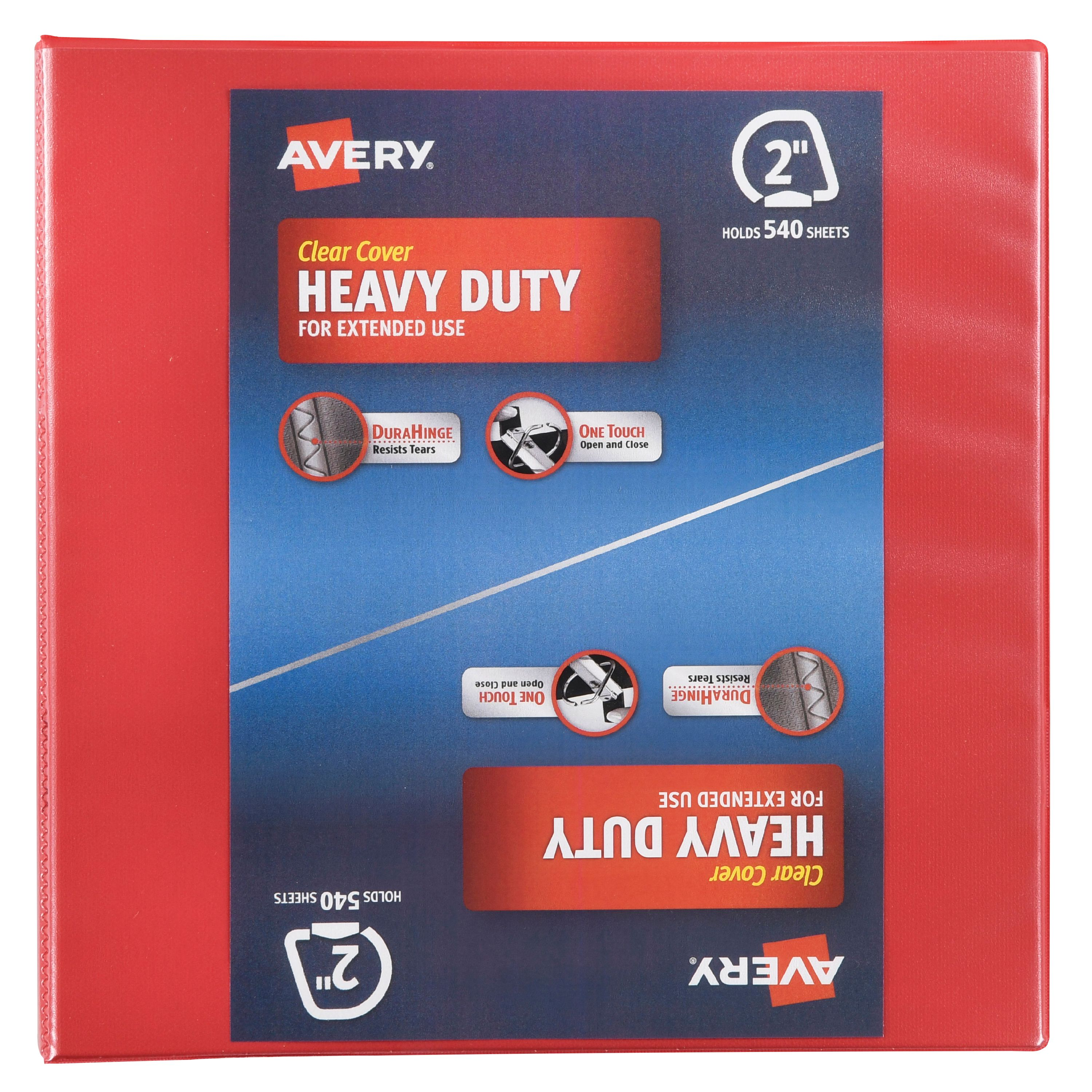 "Avery Clear Cover Heavy Duty 2"" Binder, 1.0 CT"