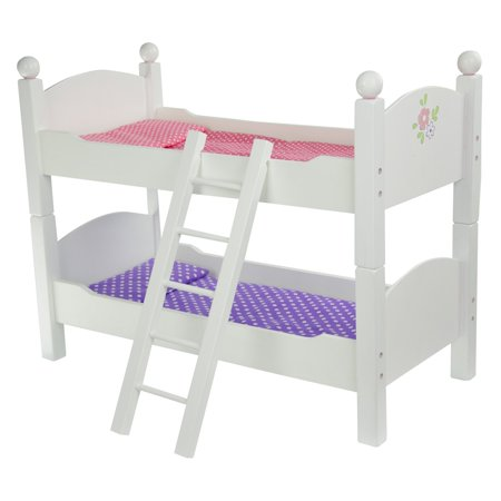 Olivia 39 S Little World Princess Double Bunk Bed White Wooden 18 Inch Doll Furniture