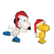 """26"""" Pre-Lit Peanuts Soft Tinsel Snoopy and Woodstock Christmas Yard Art Decoration Clear Lights by Product Works"""