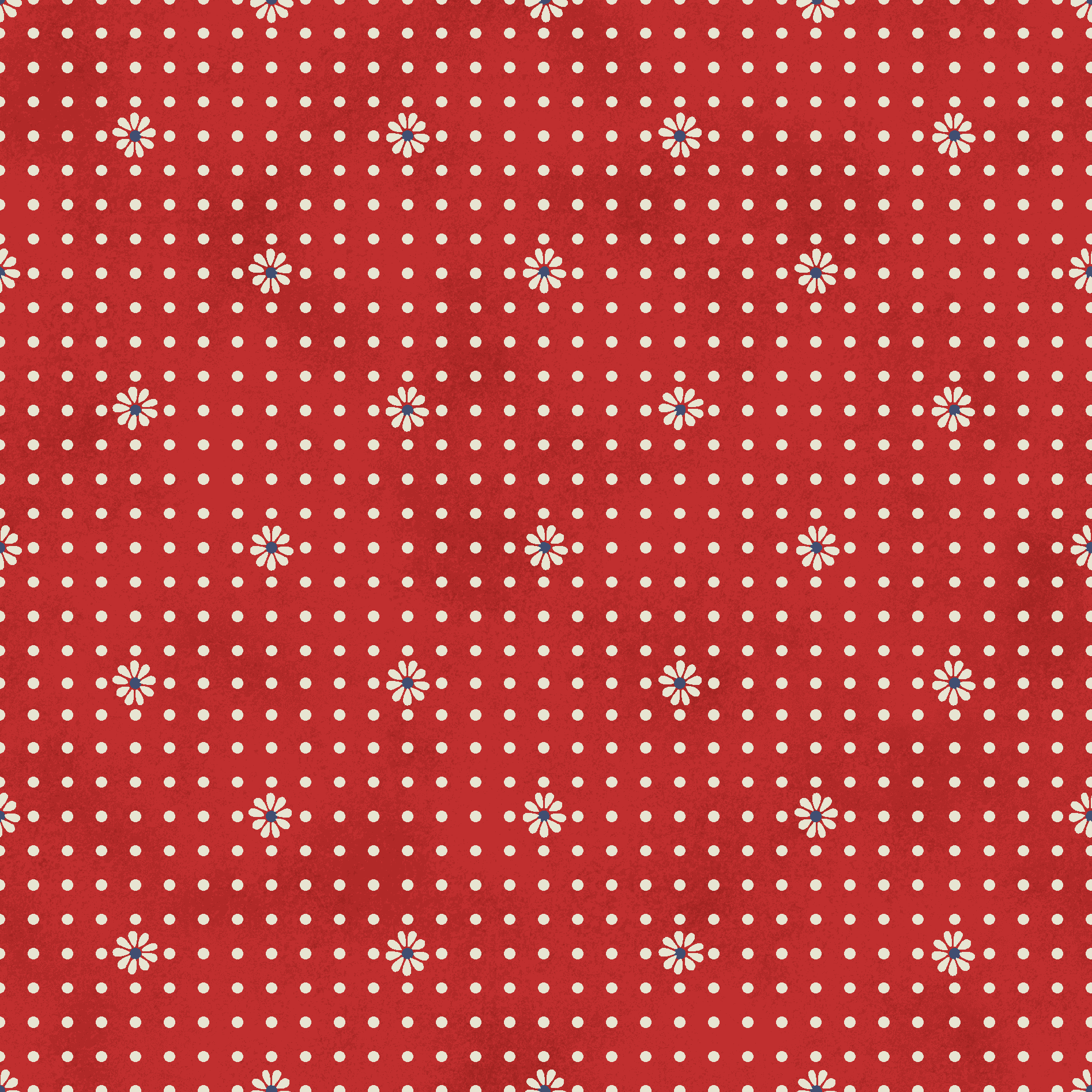 """RTC Patriotic Fabrics 100% Cotton, Daisy Dot Red, 44"""" Wide, 140 Gsm, Quilt, Crafts By The Yard"""