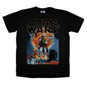 Star Wars Dark Side Poster Junk Food Vintage Style Movie Adult Soft T-Shirt Tee