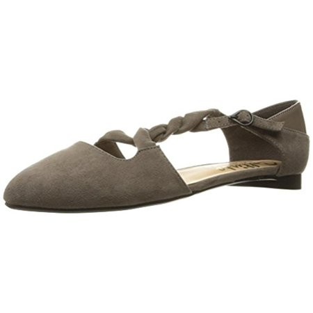 Callisto Womens Sorcha Faux Suede Almond Toe Ballet Flats