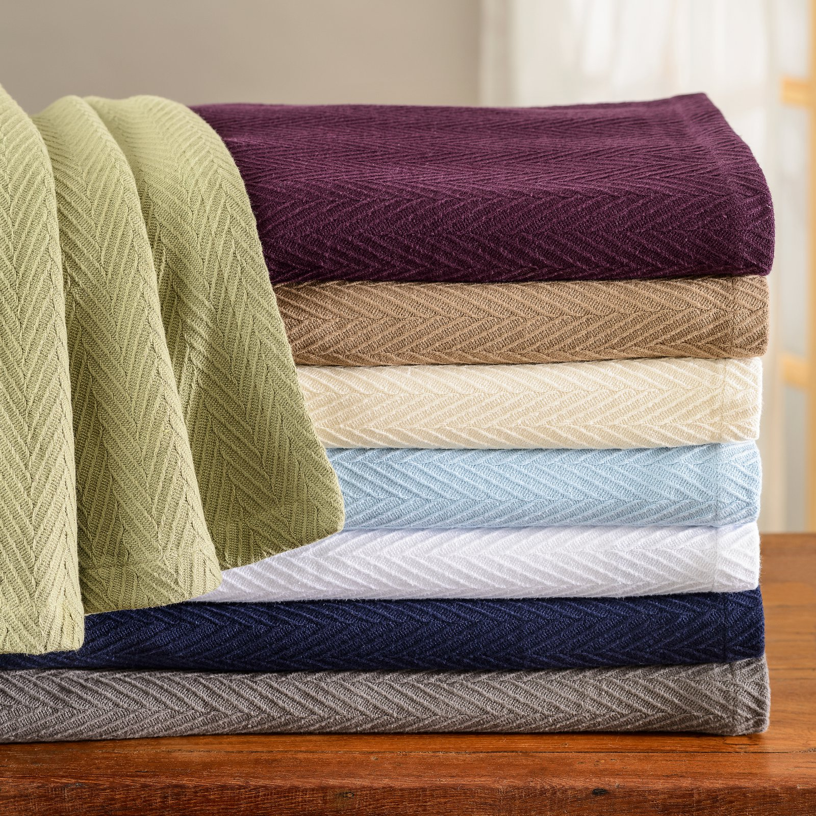 Impressions Cotton Metro Weave Blanket by Home City Inc