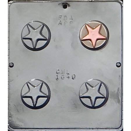 Fine Molds Star - 1640 Star Oreo Cookie Chocolate Candy Mold