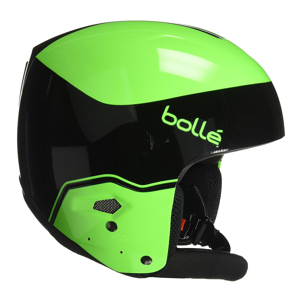 Bolle Winter Medalist Black & Flash Green 57-58cm 31395 Ski Helmet FIS Approved by Bolle