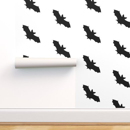 Harry Potter Halloween Wallpaper (Peel-and-Stick Removable Wallpaper Bats B&W Black And White Black)