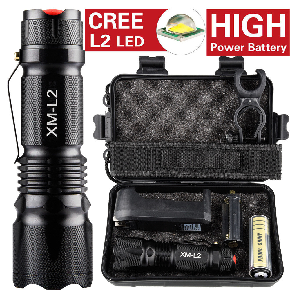 Huppin's 10000LM X800 Tactical*Military L2 LED Flashlight Torch Gift Kit