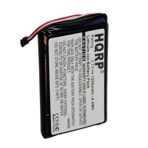 HQRP 1200mAh Battery for GARMIN 361-00035-01 Nuvi 1200 1205 1205W 1250 1255W 1260 1260W GPS Navigator + HQRP Coaster