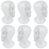 SHANY Styrofoam Model Heads/Hat Wig Foam Mannequin/Half Dozen Jumbo Pack