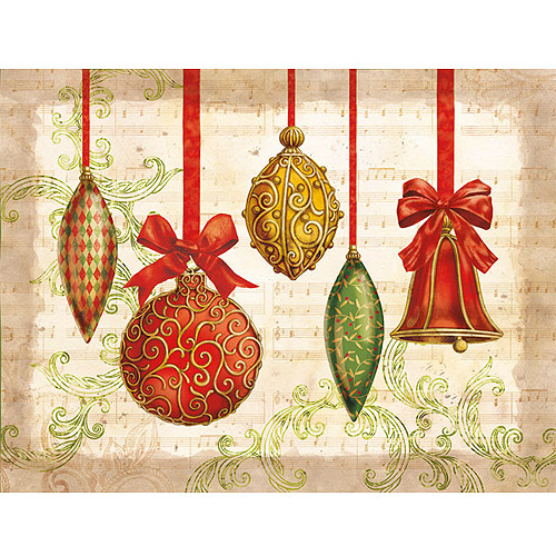 Ornaments Boxed Christmas Card