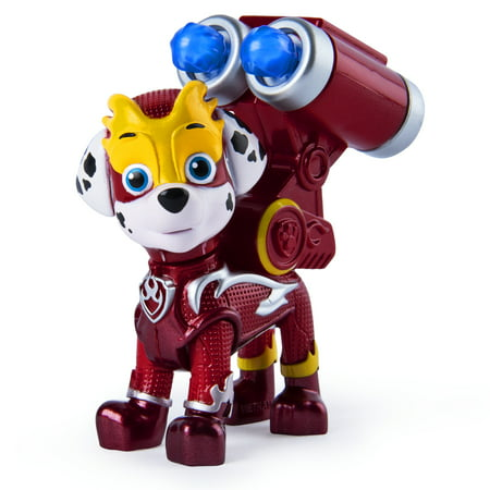 PAW Patrol, Mighty Pups Super PAWs Marshall Figure with Transforming Backpack, for Kids Aged 3 and Up