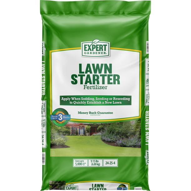 Expert Gardener Lawn Starter Fertilizer Covers Up To 5 000 Sq Ft Walmart Com Walmart Com