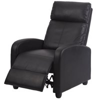Product Image Black Modern Leather Chaise Couch Single Recliner Chair Sofa Furniture 87