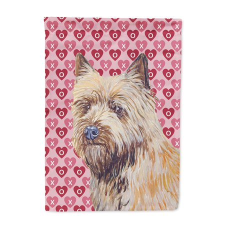 Cairn Terrier Hearts Love and Valentine's Day Portrait Flag