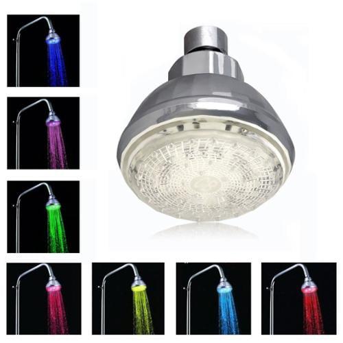 Romantic 7 Color Change LED Light Shower Head Water Bath Home Bathroom Glow L
